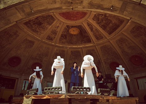 Lawrence Rothman stage costumes for Acrosanti by Michelle Laine