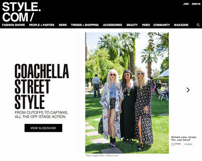 Michelle Laine Jewelry on style.com at Coachella 2014