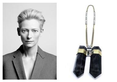 Tilda Swinton's Fluorite Necklace