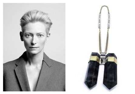 Tilda Swinton's Fluorite Necklace