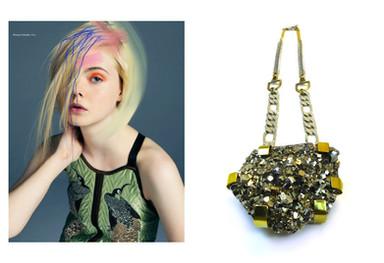 Elle Fanning's Pyrite Necklace