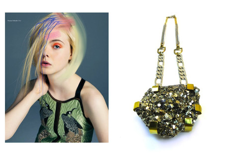 Elle Fanning's Pyrite Necklace