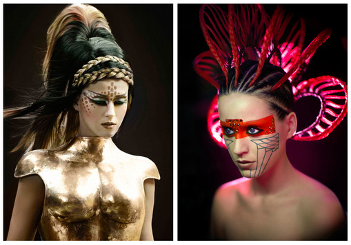 "Headpieces for Katy Perry's ""E.T. Extraterrestrial"" ft Kanye West"