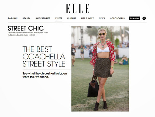 Elle covers Coachella 2014, Michelle Laine Jewelry