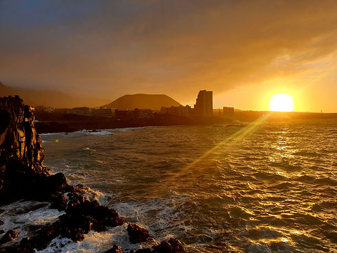 Sunset at the coast of Tenerife