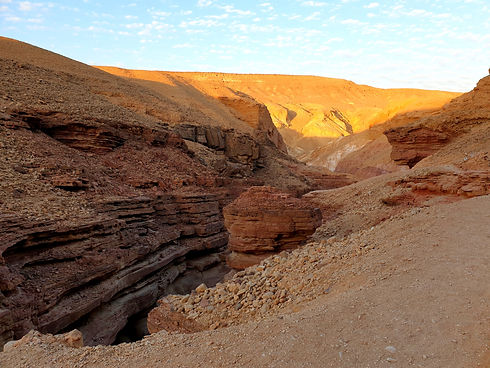 Exploring the Red Canyon in Israel