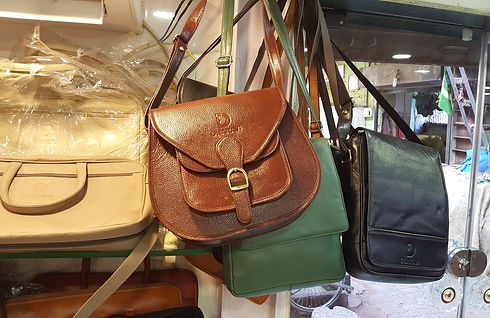 Leather handbag made in Dharavi