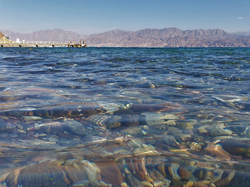 The beautiful Red Sea in Israel