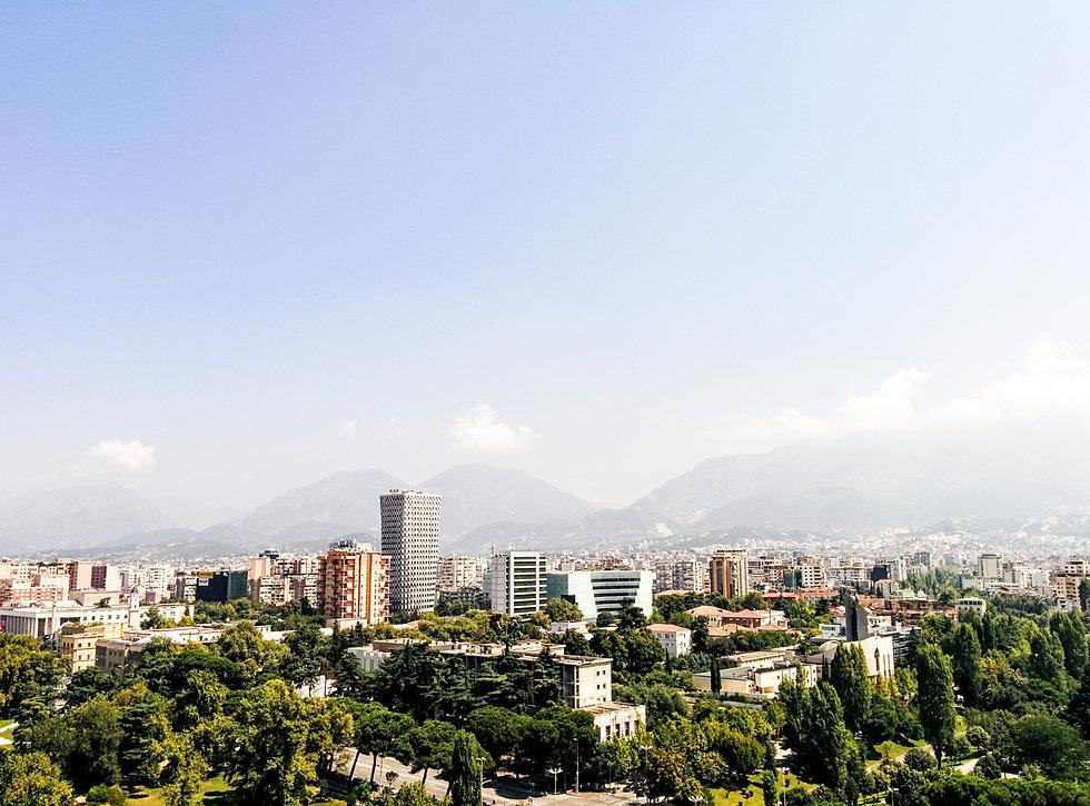 View over Tirana, Albania