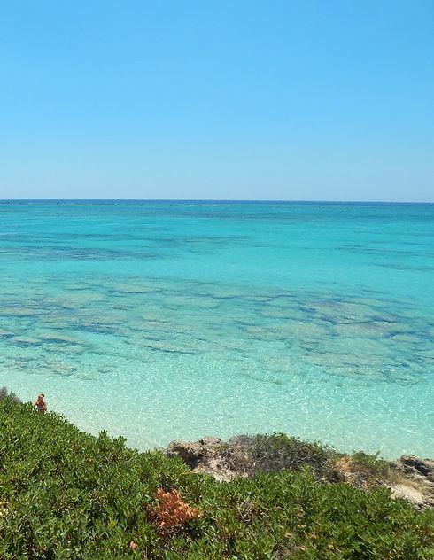Clear water in Elafonisi Lagoon in Crete