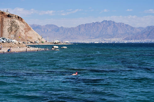 Swimming in the Red Sea (Israel)
