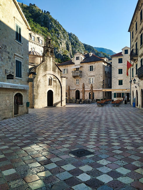 Empty square in Kotor, Montenegro