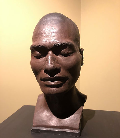 The wax bust of Takatahara, moulded by Pierre-Alexandre