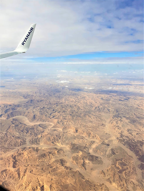 Judean Desert from a plane (Giving Getaway)