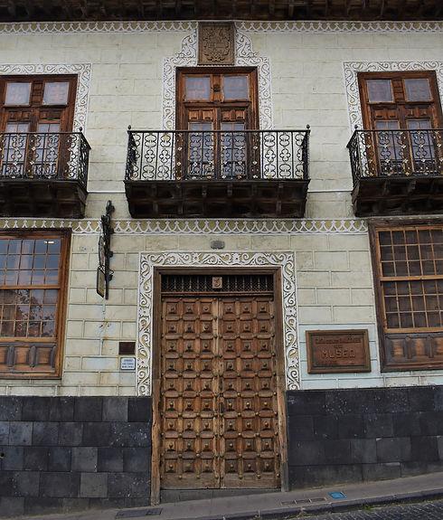 Wooden Door and Balconies in Orotava