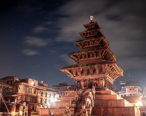 Night Picture of Kathmandu, Nepal (Giving Getaway)