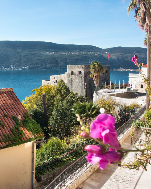 View at Sea Fortress in Herceg Novi, Montenegro