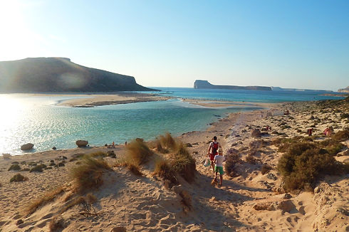 Sunset at the Balos Lagoon in Crete