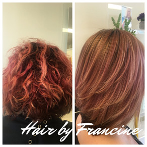 Keratin Smoothing with Base Color and Haircut Style