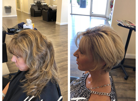 FULL HIGHLIGHT, TONER, BASE COLOR WITH WOMAN'S HAIRCUT & STYLE