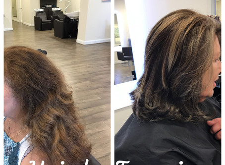Partial Highlight, Base Color and Haircut Style