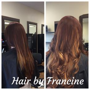 Full Balayage, Base Color with Haircut Style