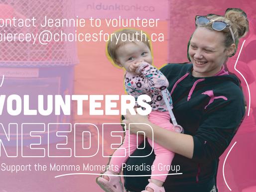 Volunteers Needed: Momma Moments