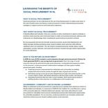 Social Procurement Policy Brief - 2021