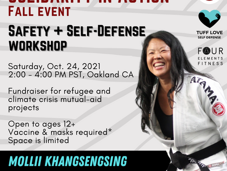 Solidarity in Action: Safety + Self-Defense Workshop and Mutual Aid Fundraiser with Mollii 10/24/21