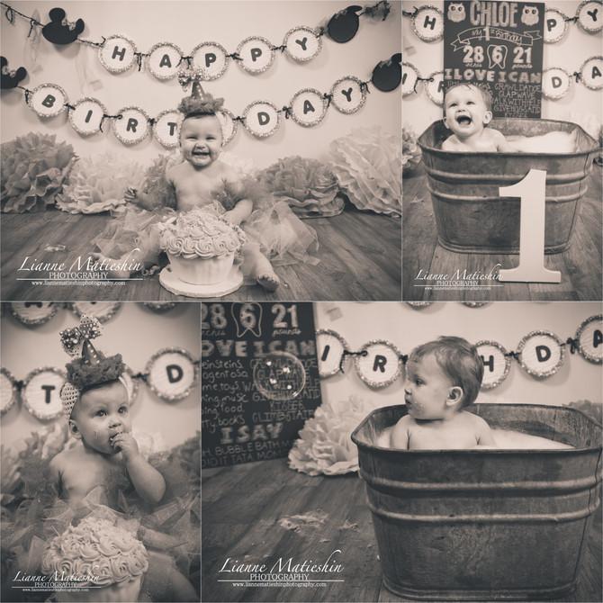 Chloe's Cake Smash & Bath