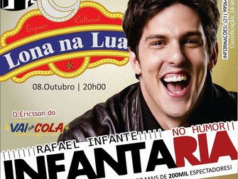 """Lona na Lua recebe show de comédia """"Infantaria"""",  do ator Rafael Infante"""