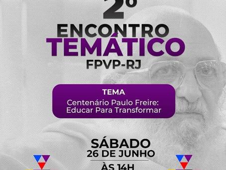 Centenário de Paulo Freire é tema de encontro dos prés populares