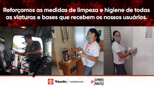 Triunfo Transbrasiliana reforça ações no combate à COVID-19