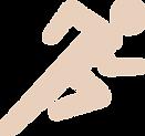 Representação de um homem correndo