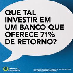 Que tal investir em um Banco que oferece 71% de retorno?
