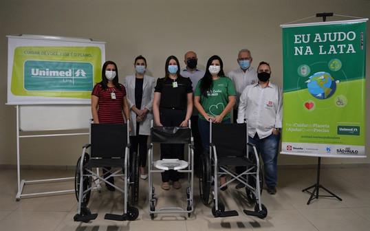 Triunfo Transbrasiliana, Unimed e Sabesp realizam a entrega de cadeiras de rodas