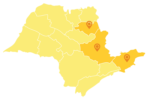 mapa das cidades atendidas