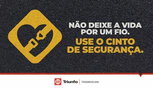 Triunfo Transbrasiliana lança campanha sobre a importância do uso do cinto de segurança