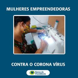 Mulheres empreendedoras contra o coronavírus