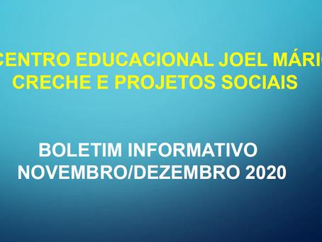 Boletim informativo - Novembro e Dezembro/2020