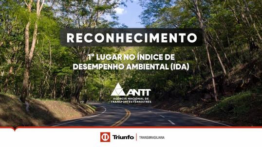 Triunfo Transbrasiliana é a mais bem avaliada no Índice de Desempenho Ambiental (IDA) pela ANTT