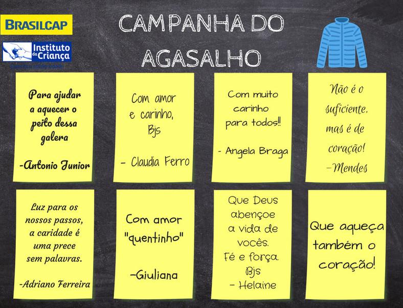 Campanha do agasalho BRASILCAP