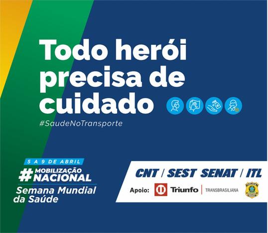Triunfo Transbrasiliana e PRF apoiarão a Semana Mundial da Saúde do SEST SENAT