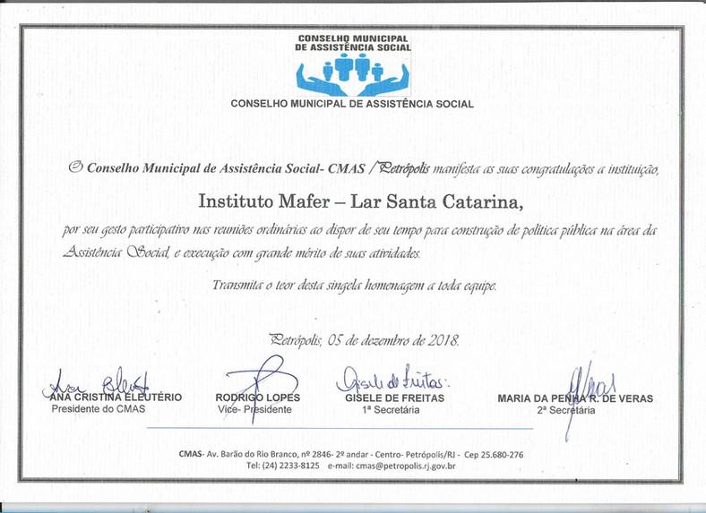 Lar recebe certificação da Prefeitura de Petrópolis