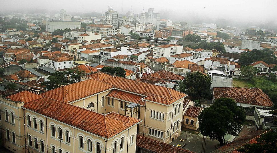 Foto panorâmica da cidade de Guaratinguetá