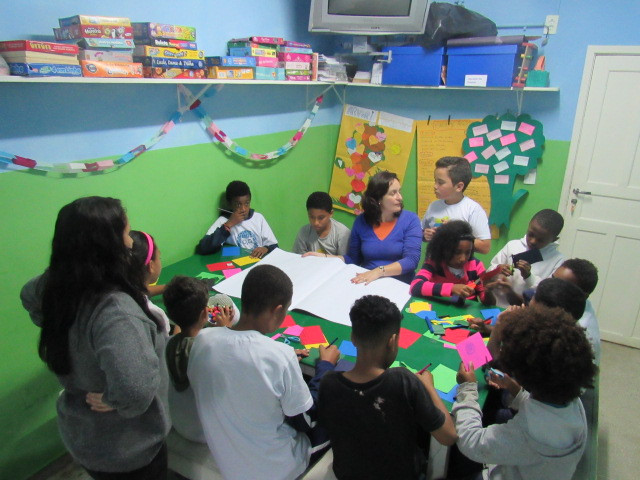Visita da professora Raquel Rocha