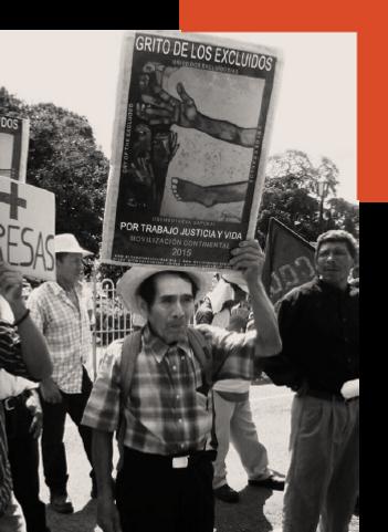 Gritos de los Excluidos Continental Manifestação Cartaz Pavel