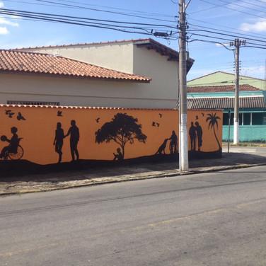 Muro do ILA após a pintura