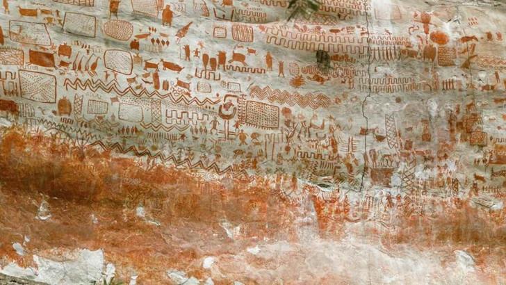 Pinturas de cavernas com 8 milhas de comprimento, descobertas nas profundezas da floresta amazônica