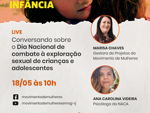 Conversando sobre o Dia Nacional de combate à exploração sexual de crianças e adolescentes